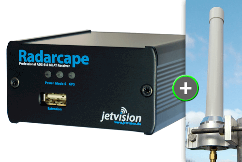 "BUNDLE: Radarcape + ""Active Diapason"" Antenne (1090 MHz)+ 20 m Antennenkabel"