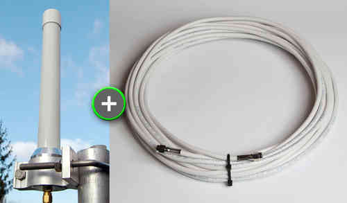 "BUNDLE: ""Active Diapason"" Antenna (1090 MHz)+ 20 m Antenna Cable"