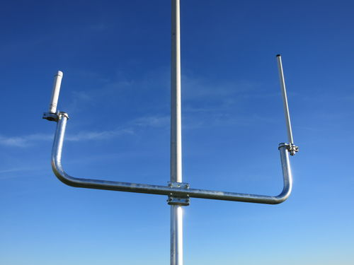 Double steel mast arm 110cm