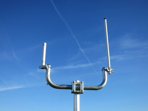 Double steel mast arm 50cm
